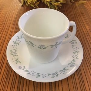 Corelle by Corning Cup & Saucer Set